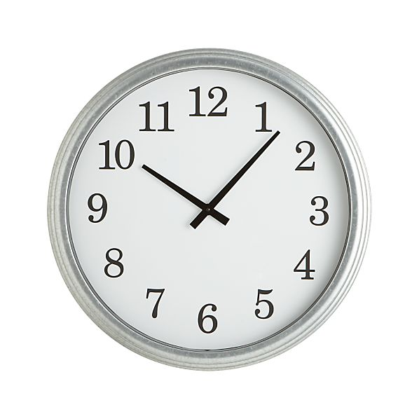 Galvanized Wall Clock 22""