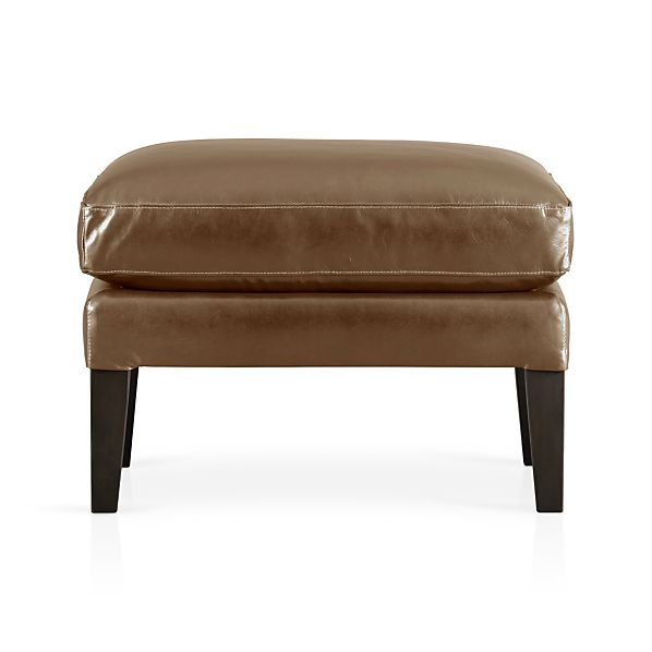 Garbo Leather Ottoman