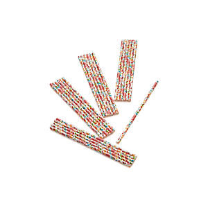 Set of 24 Garden Party Straws