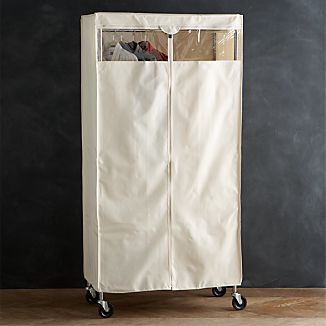 Work Mobile 3-Shelf Garment Rack Dust Cover