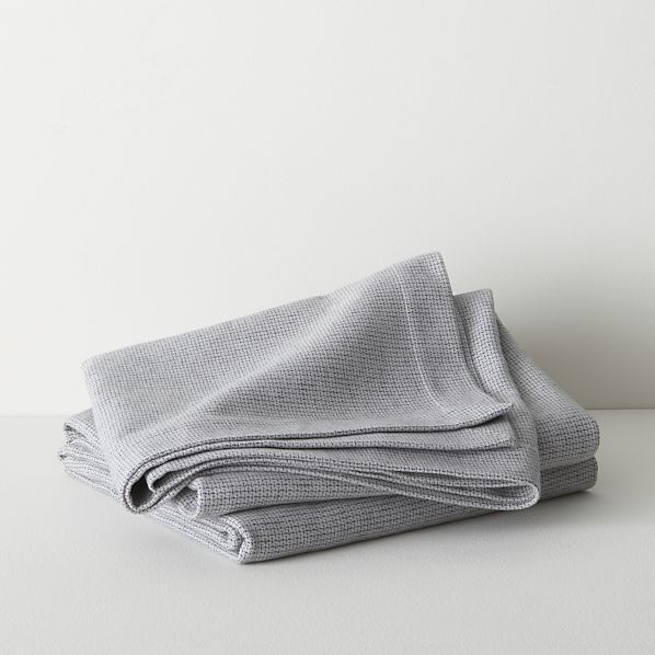 Geneva Grey Blanket Twin