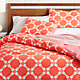 Genevieve Coral Full/Queen Duvet Cover