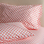 Set of two Genevieve standard pillowcases.