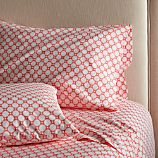 Genevieve Coral King Sheet Set