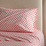 Genevieve Coral Twin Sheet Set