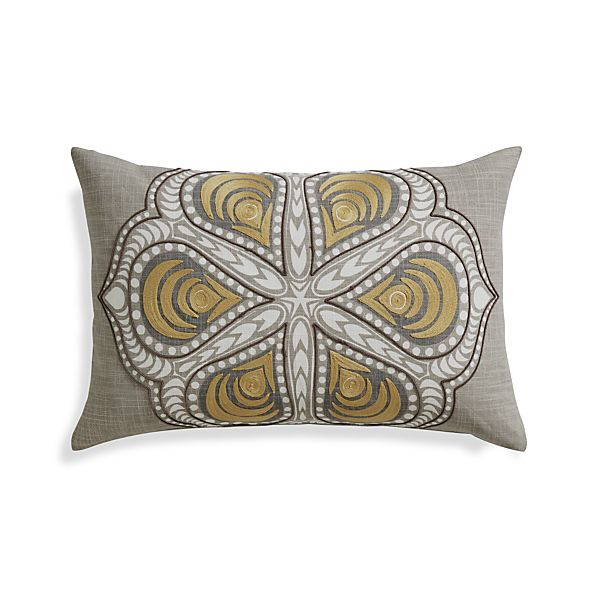 "Gentry 24""x16"" Pillow with Feather-Down Insert"