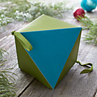 Large Green and Blue Geometric Box.