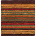 Gianni Rust Wool Rug Swatch.