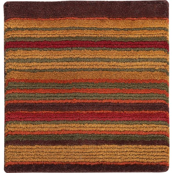 "Gianni Rust Rug 12"" sq. Rug Swatch"