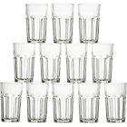 "Set of twelve juice glasses. 7 oz.; 4.5""H"