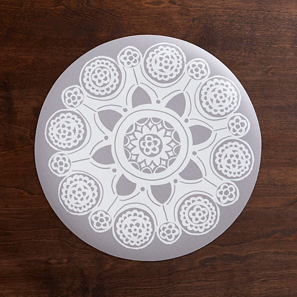 Giddy White Placemat