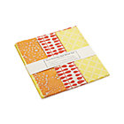 Orange Gift Wrap Set: one sheet each of three designs.