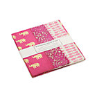Pink Gift Wrap Set: one sheet each of three designs.
