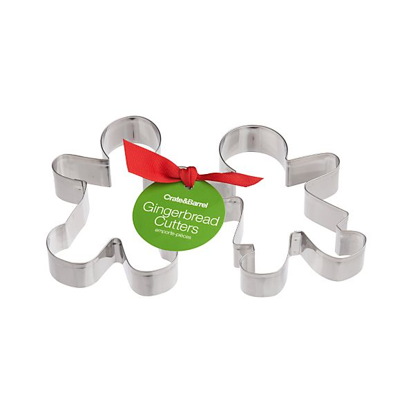 2-Piece Gingerbread Cookie Cutter Set