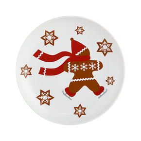 Gingerbread Man 7 Plate