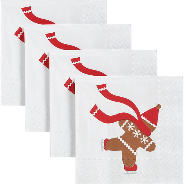 Set of 20 Gingerbread Beverage Napkins