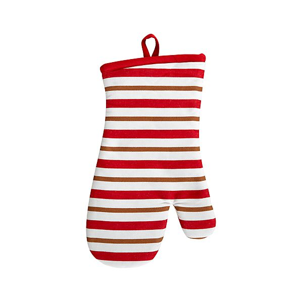 Gingerbread Stripe Oven Mitt
