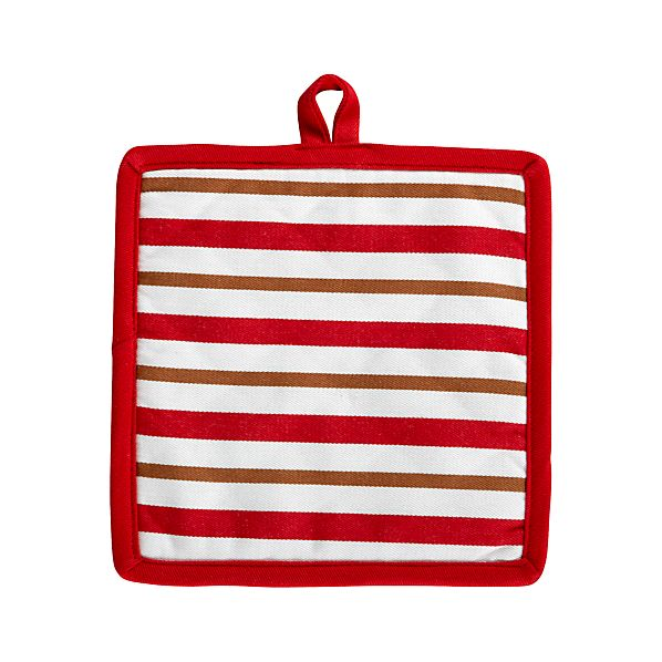 Gingerbread Stripe Potholder