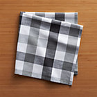 Gingham Black-White Napkin.