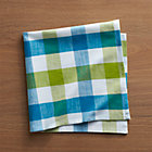 Gingham Green-Blue Napkin.