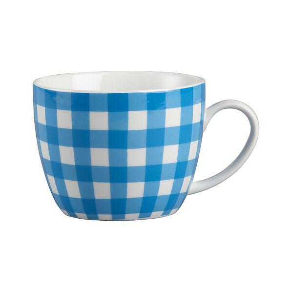 Gingham Blue Mug