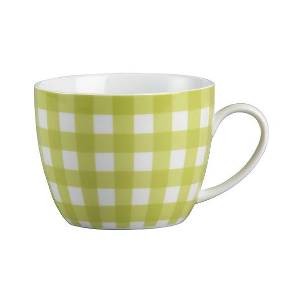 Gingham Chartreuse Mug