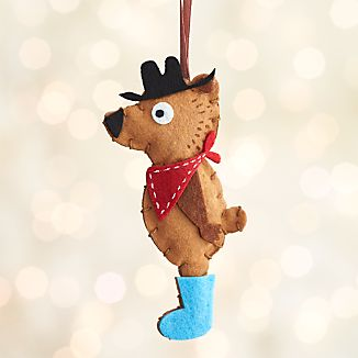 Glamping Bear with Bandana Ornament