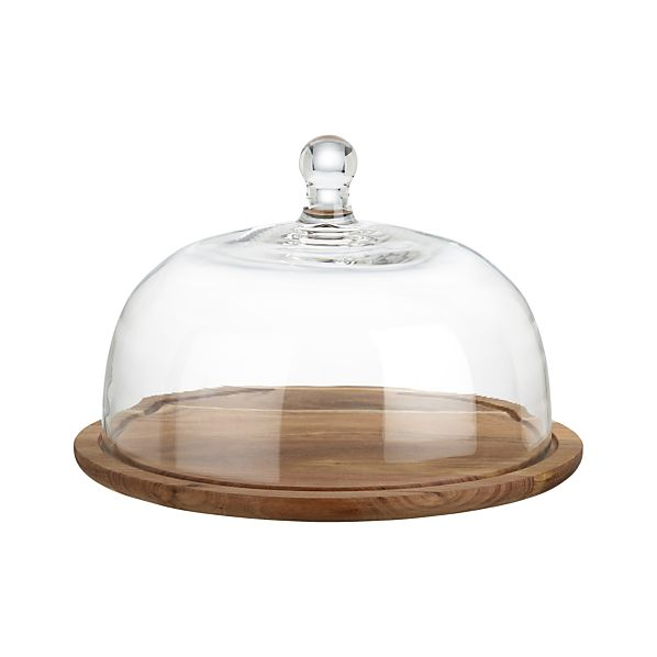 Glass Dome Cheese Board