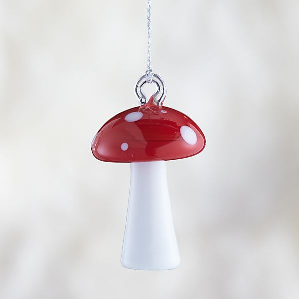 Red Polka Dot Mushroom Ornament