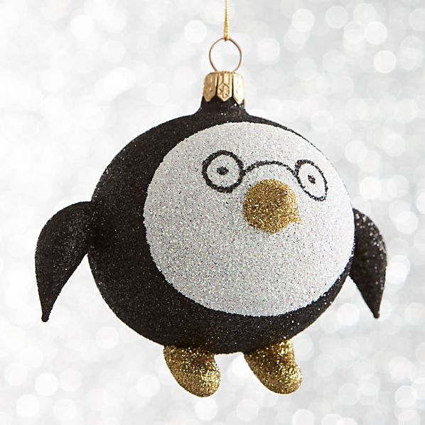 Glitter Penguin Ornament