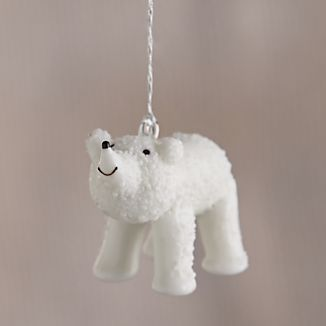 Polar Bear Looking Up Ornament