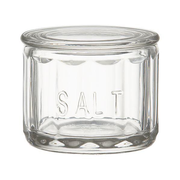 Glass Salt Cellar with Lid