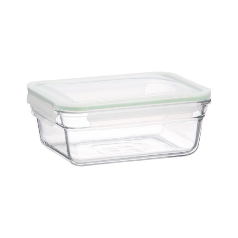 "Cook, serve and store in this green-minded, heat- and shatter-resistant tempered glass. Manufactured to withstand heavy use, ""ovensafes"" feature 100% airtight silicone seals and leak-proof lids.<br /><br /><NEWTAG/><ul><li>Tempered glass, polypropylene with a silicone seal</li><li>BPA free</li><li>Dishwasher-, freezer- and oven-safe up to 450 degrees</li><li>Microwave-safe without lid</li><li>Made in South Korea</li></ul>"