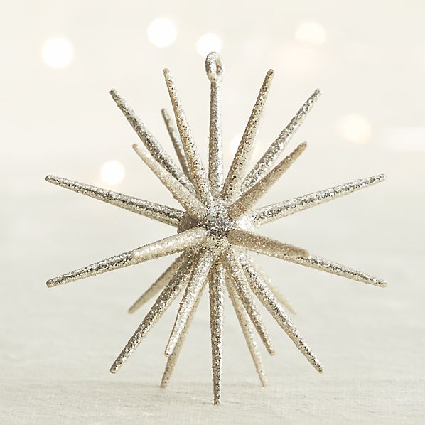 Silver Glitter 3D Star Ornament