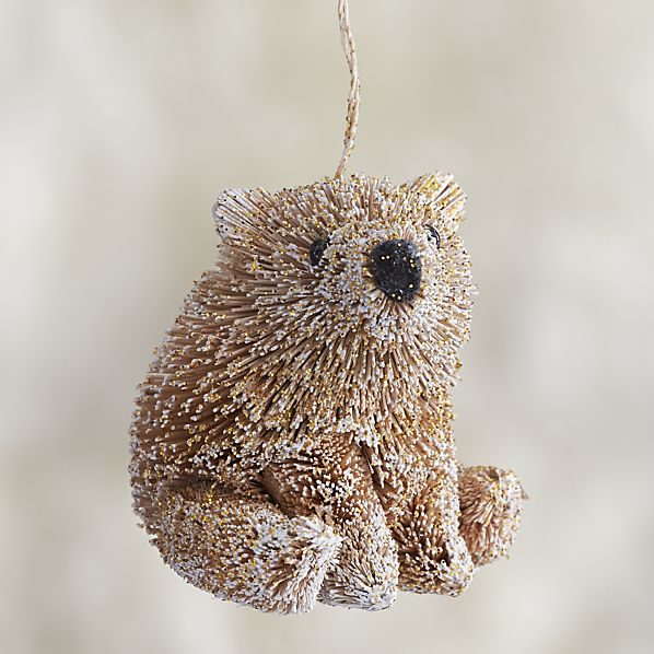 Glitter Buri Polar Bear Ornament