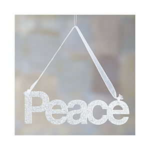 Glitter Greetings Peace Ornament