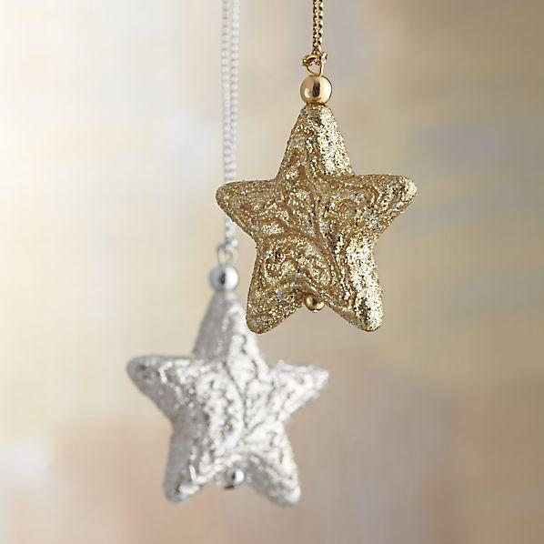 Glitter Star Ornaments