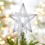 Silver Glitter Star Tree Topper