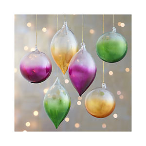 Global Dip Dyed Ornaments