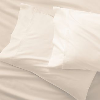 Set of 2 Grace Sateen Ivory King Pillowcases