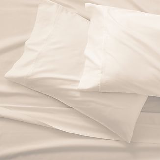 Grace Sateen Ivory Full Sheet Set