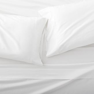 Grace Sateen White King Sheet Set