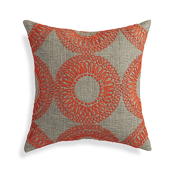 "Gracie Orange 18"" Pillow"