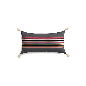"Grady Berry 24""x12"" Pillow with Feather-Down Insert"