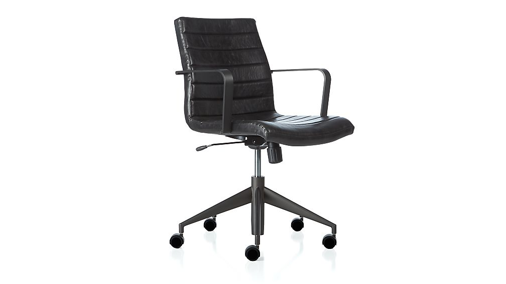 Graham Desk Chair Black In Office Chairs Crate And Barrel