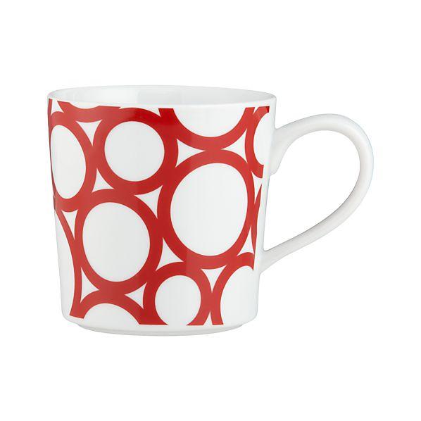 Graphic Red Circles Mug