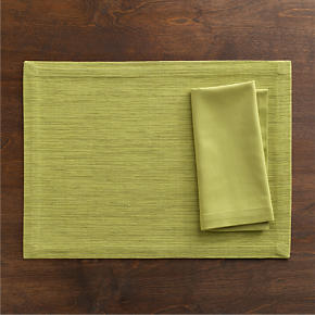 Grasscloth Placemat Pear and Cotton Pear Napkin