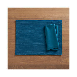 Grasscloth Corsair Placemat and Fete Corsair Cotton Napkin