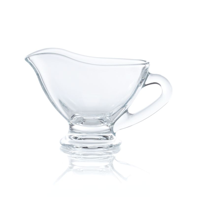 Graceful footed gravy boat serves gravy, cheese sauce, hot fudge and more in an individual portion.<br /><br /><NEWTAG/><ul><li>Soda lime glass</li><li>Dishwasher-safe</li><li>Made in Turkey</li></ul>