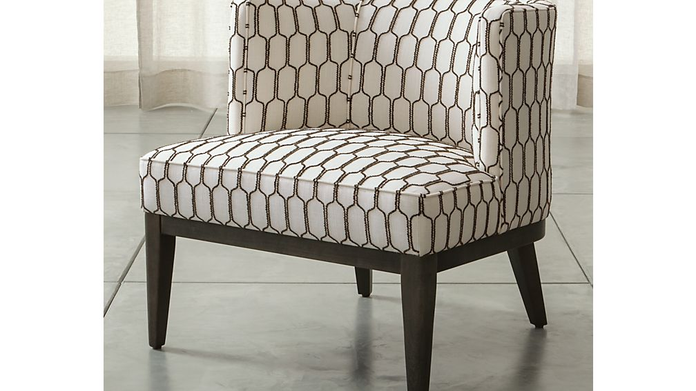 Grayson Chair Mocha Crate And Barrel